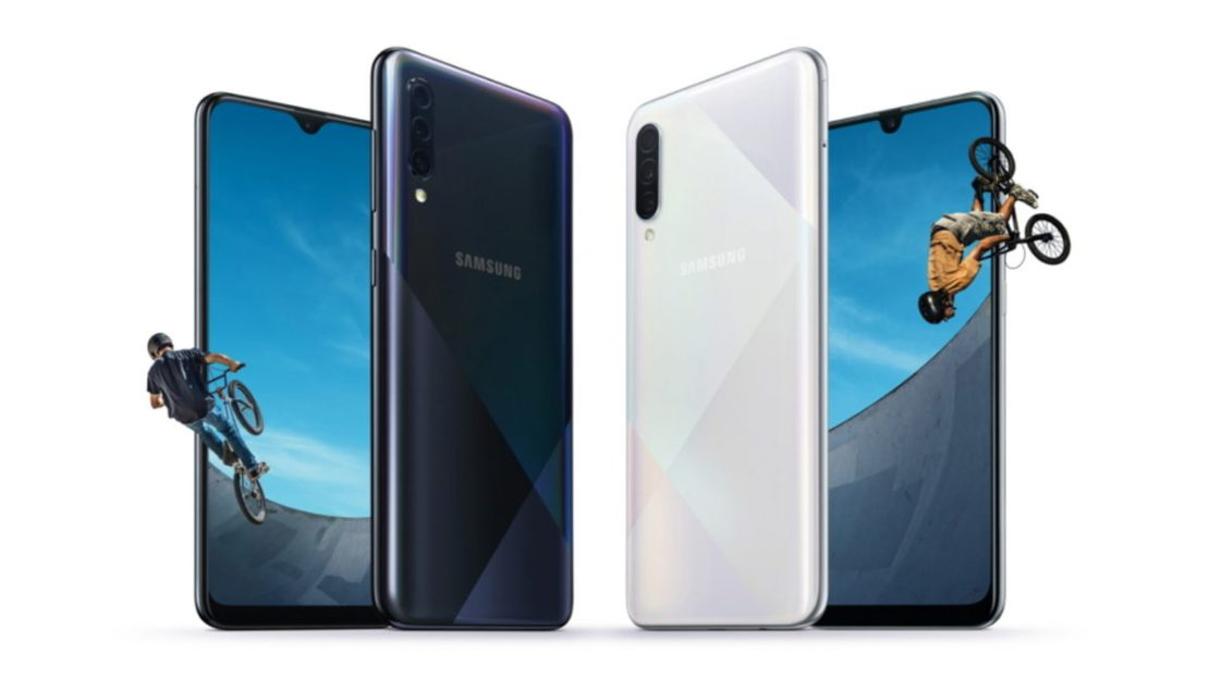 The Samsung Galaxy A50s and Galaxy A30s.