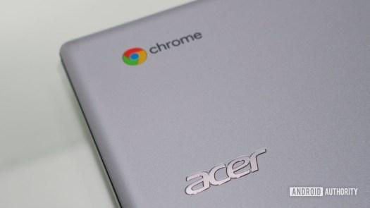 Acer Chrome logo on Chromebook
