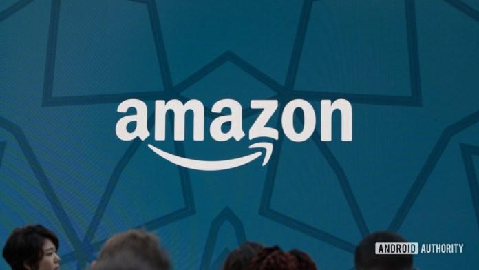 Disparo de héroe con logotipo de Amazon