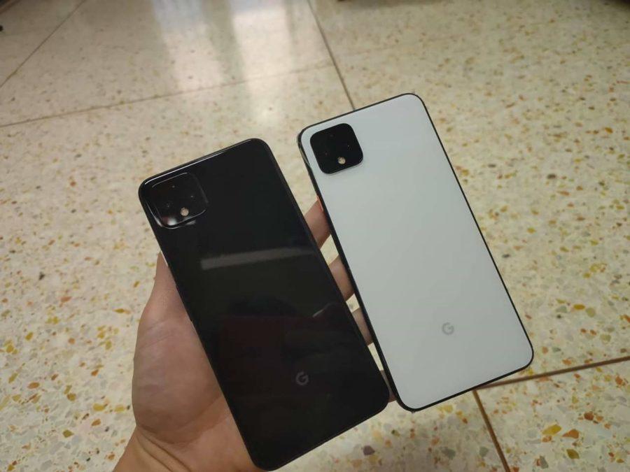 Google Pixel 4 XL white and black leak