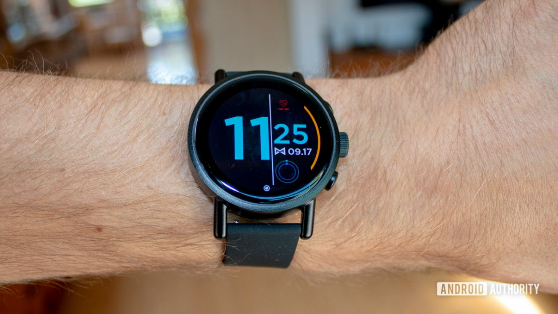Misfit Vapor X Smartwatch On Wrist Viewed From Above