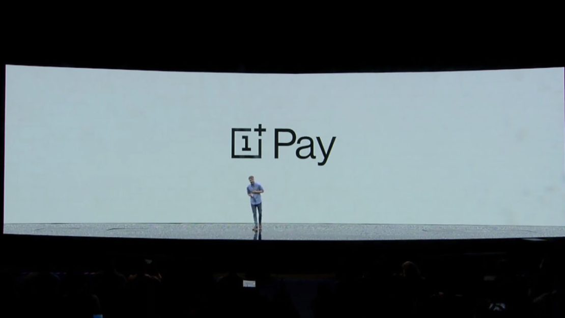 OnePlus Pay Announcement made on stage during a OnePlus event.