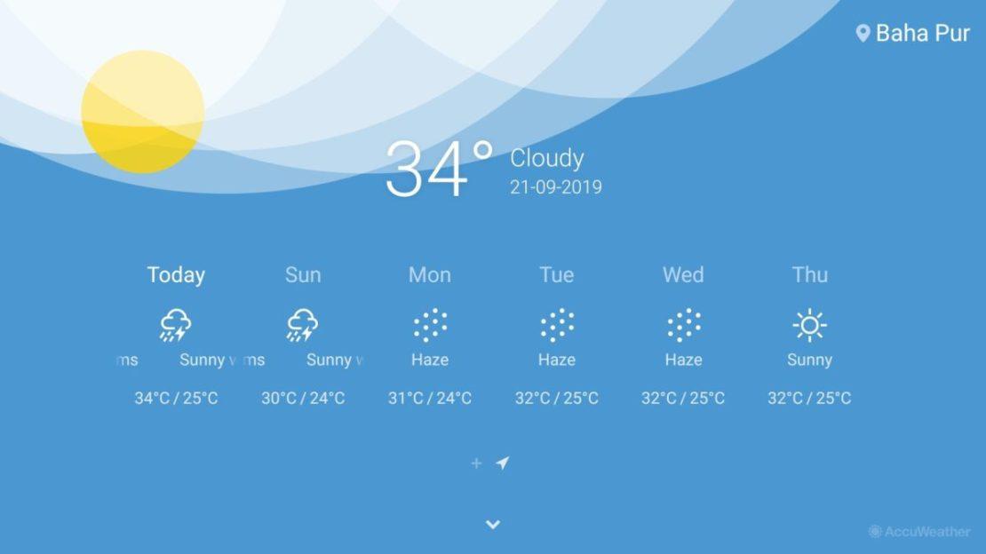 OnePlus TV weather app
