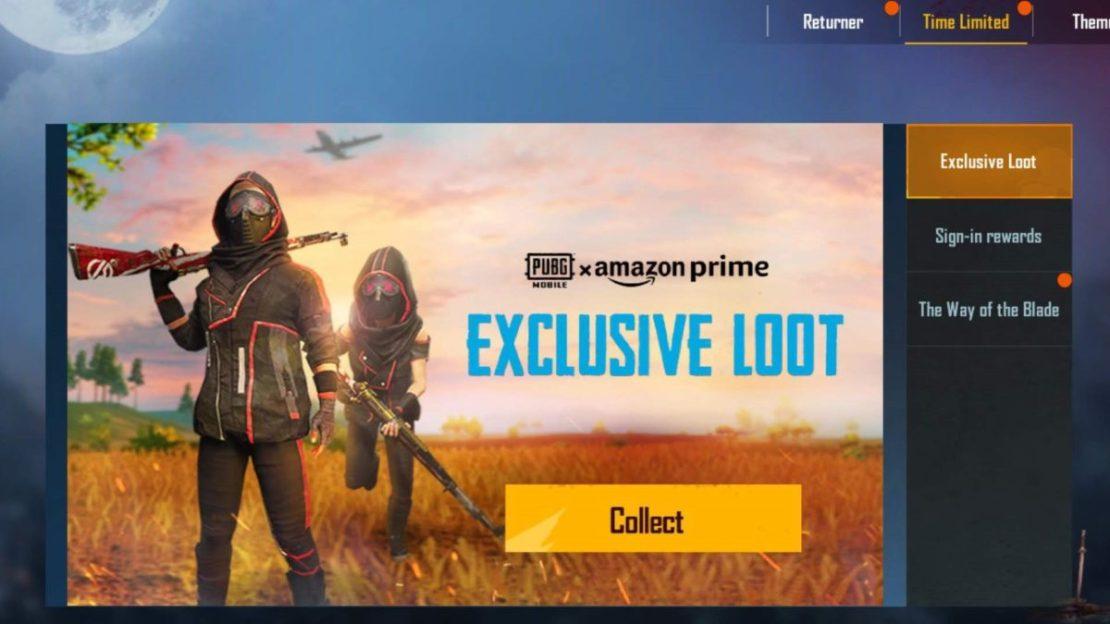 PUBG Mobile Amazon Prime