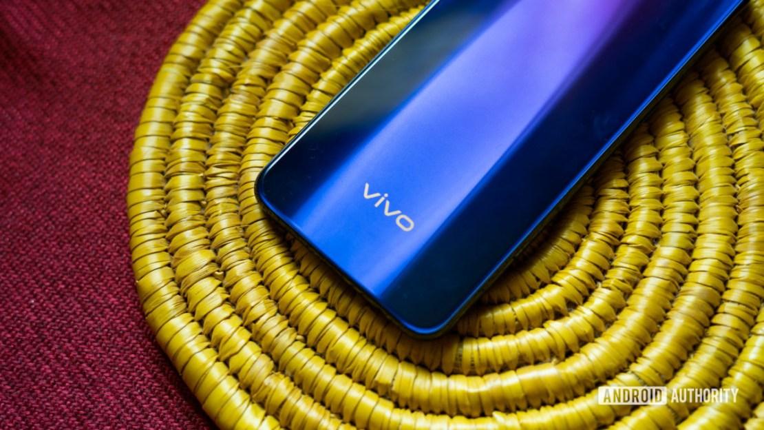 Vivo Z1x with focus on vivo logo