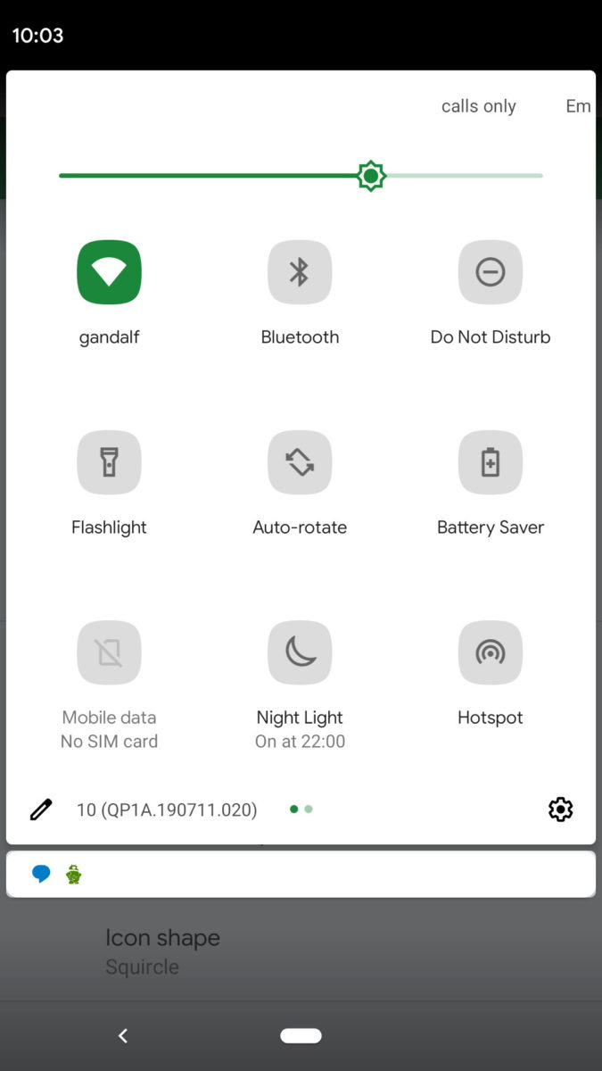 Android 10 акцентные цвета 3