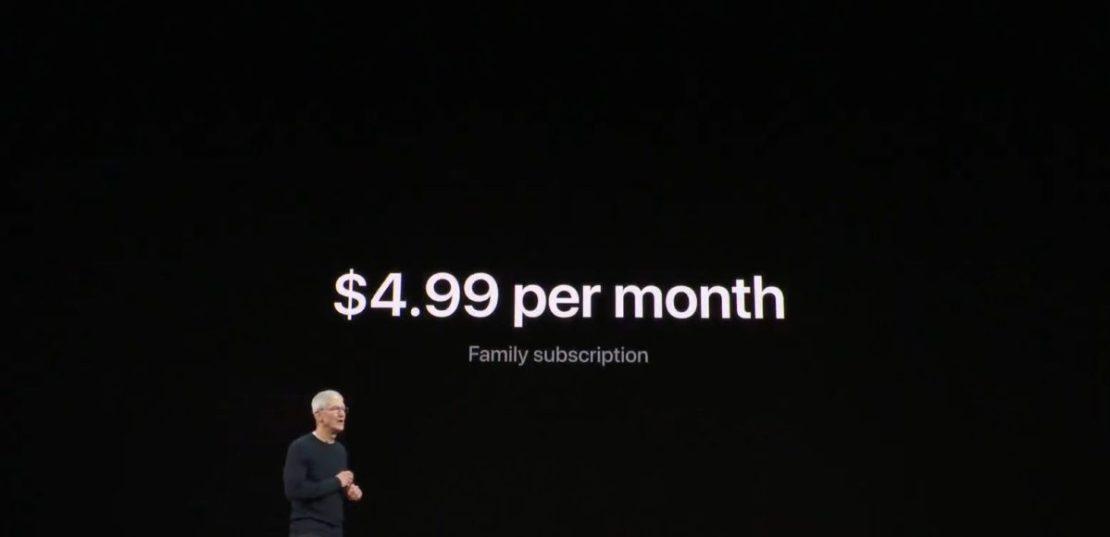 apple tv plus price