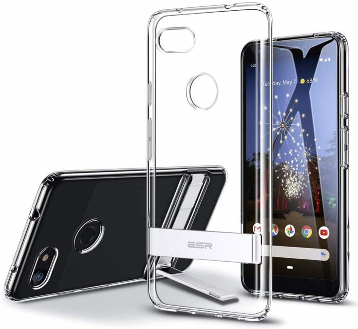 esr tpu case with metal kickstand for the pixel 3a xl