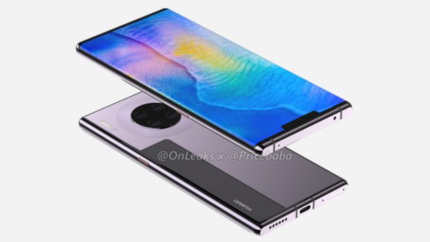 The Huawei Mate 30 Pro according to Onleaks and Pricebaba