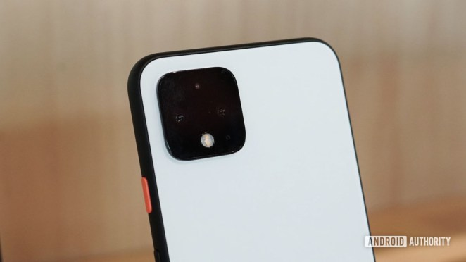 Clearly White Google Pixel 4 camera bump
