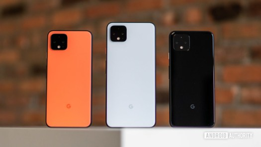 Google Pixel 4 and Pixel 4 XL sizes and colors