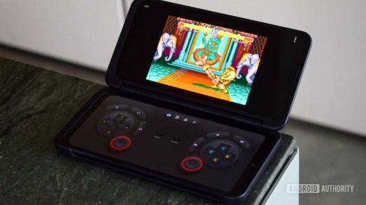 The LG G8X SNES emulator.