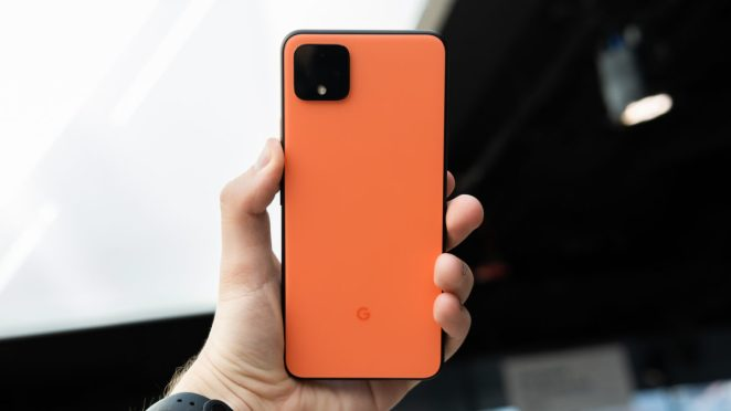 Pixel 4 XL back in hand 3