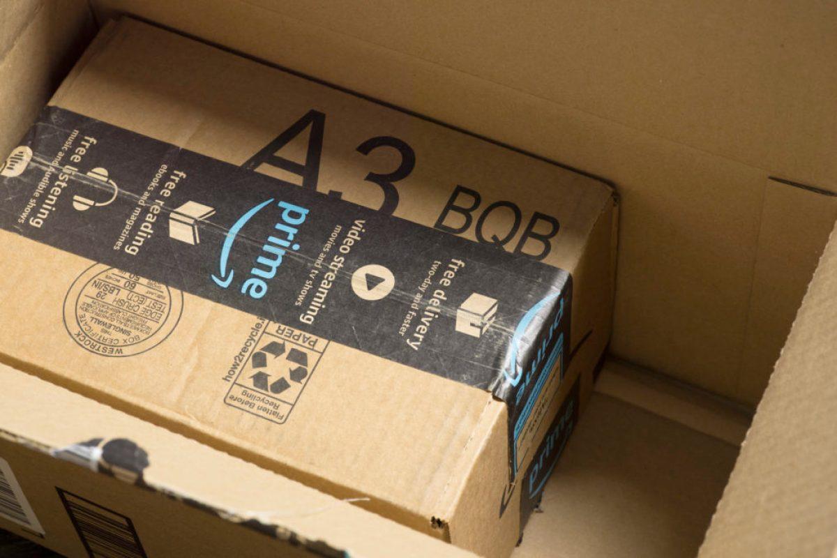 amazon box amazon prime посылка