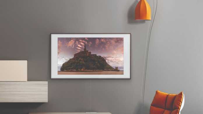 Samsung The Frame on a wall