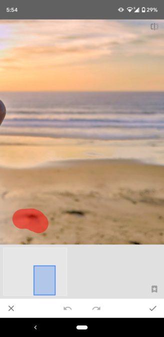 Снимки экрана Snapseed Healing 2