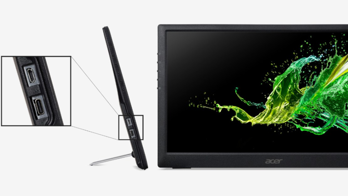 Acer PM161Q USB Type C portable monitor