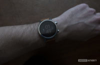 Moto 360 2019 review on wrist watch face 1