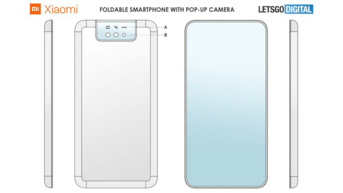 Xiaomi's foldable phone patent shows pop-up camera, clamshell design
