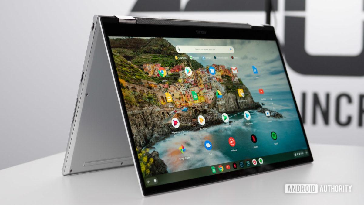 Asus Chromebook Flip C436 с приложениями для Android