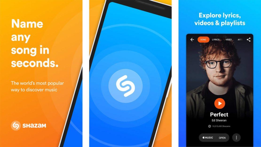 Shazam screenshot 2020