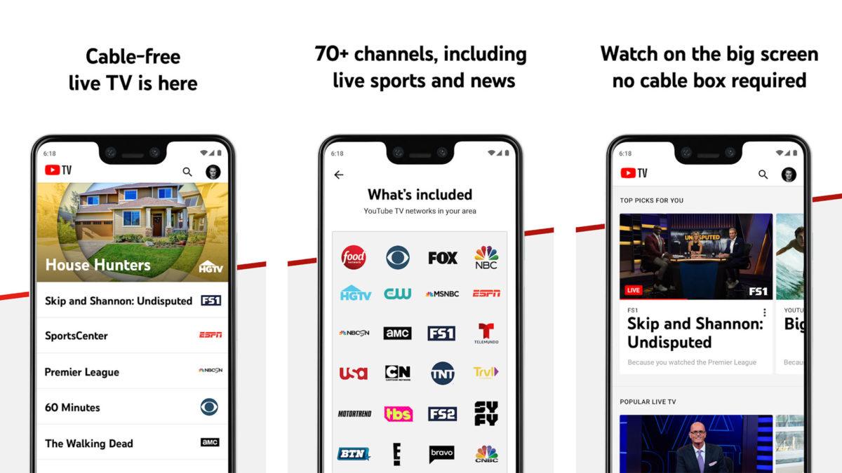 Captura de tela do YouTube TV 2020