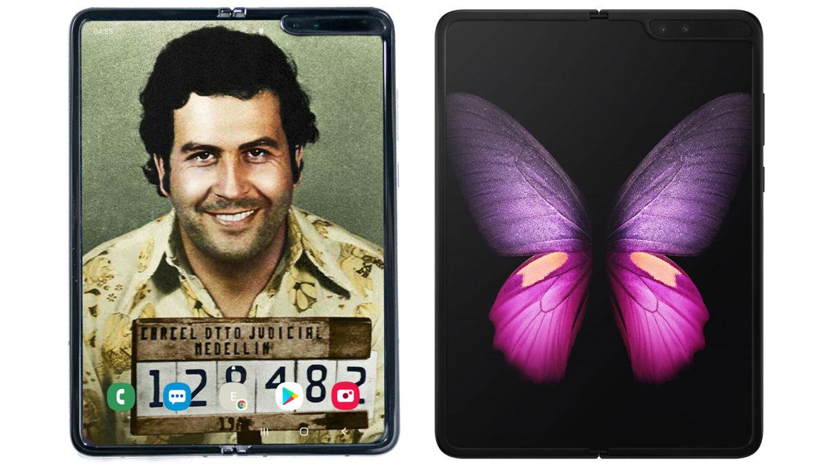 Escobar Fold 2 próximo ao Samsung Galaxy Fold