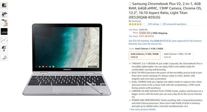 Samsung Chromebook Plus V2 2 in 1 Deal Image