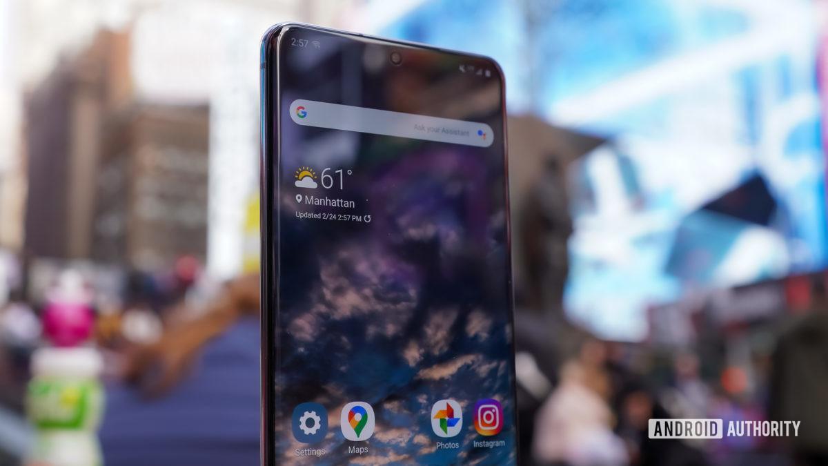 Samsung Galaxy S20 Ультра лицо квадратный профиль