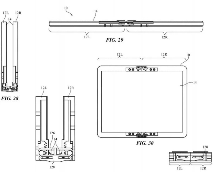 apple foldable patent device movable flaps