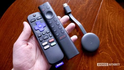 google chromecast shield tv roku remote