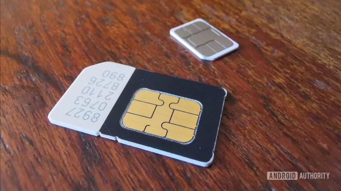 File photo of SIM cards.
