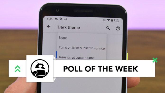 Android 11 Dark Theme sunrise sunset imp