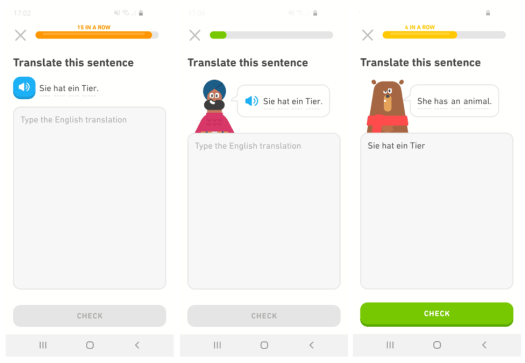 Duolingo language apps repetition