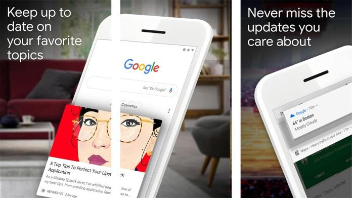 Google App screenshot 2020