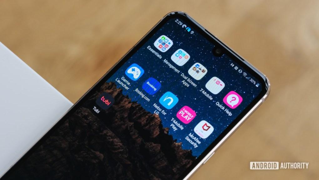 LG V60 T Mobile apps 1