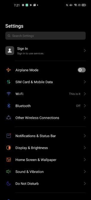 Oppo Find X2 UI 3