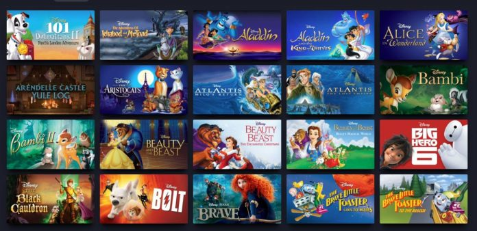 disney plus animated movies