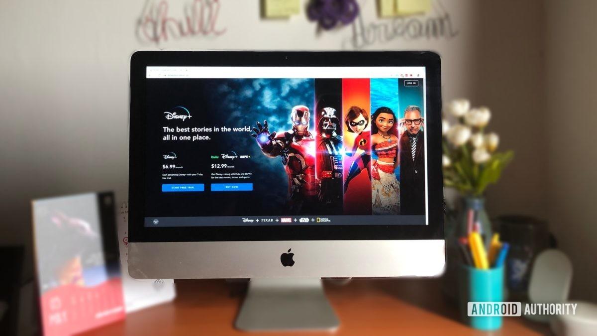 Disney Plus на настольном компьютере Mac