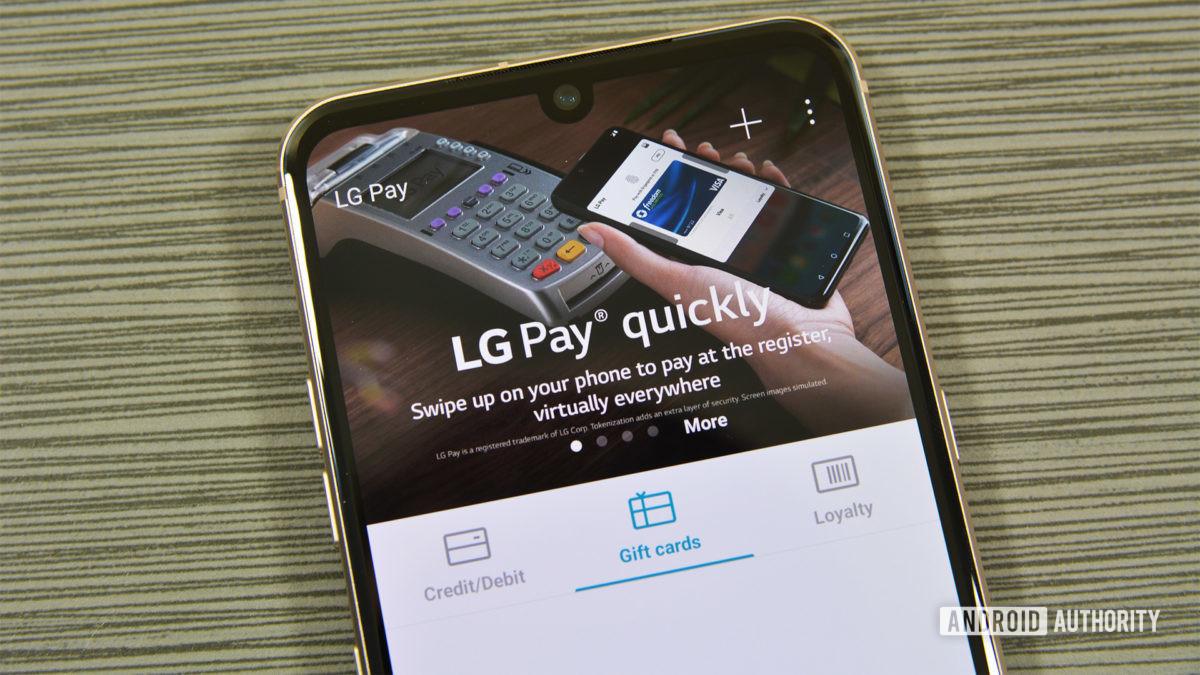 Основной экран LG Pay 2020