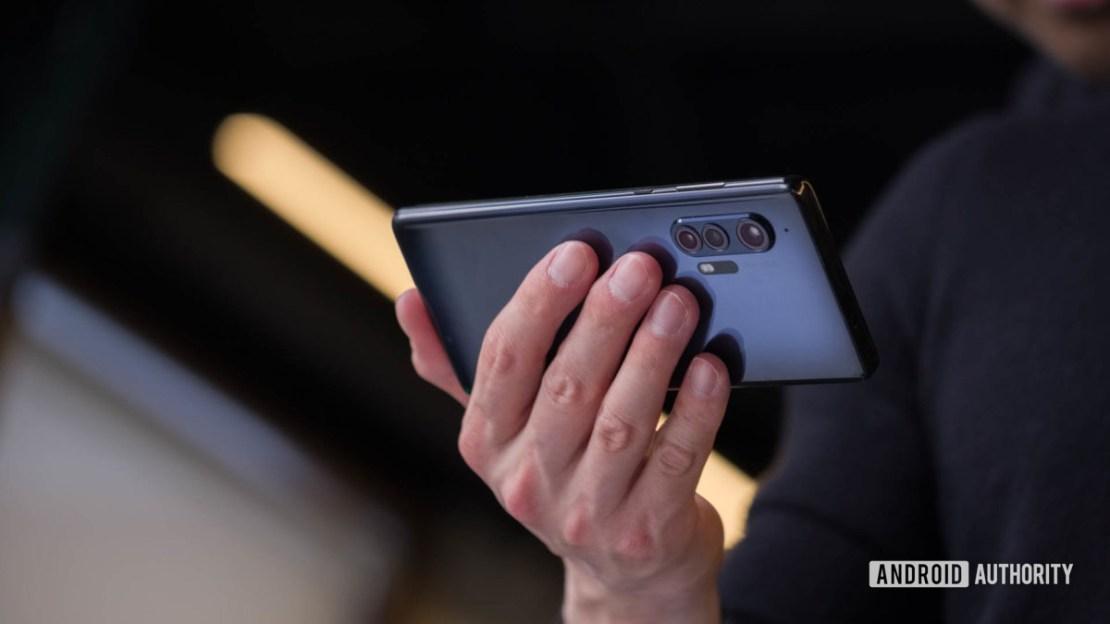 Motorola Edge horizontal in hand 2