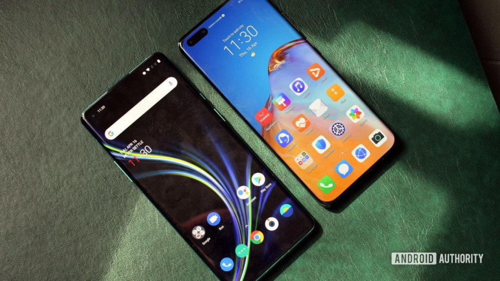 OnePlus 8 Pro и Huawei P40 Pro отображают
