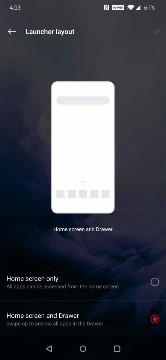 Oxygen OS Layout