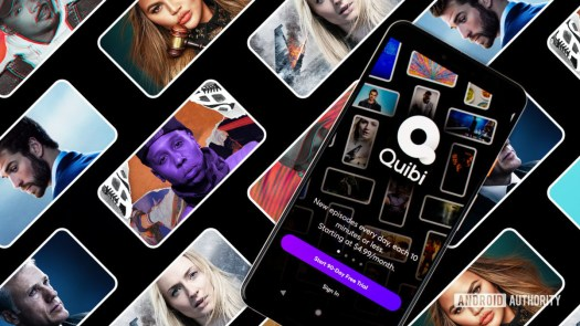 Quibi streaming app on Android smartphone stock photo 2