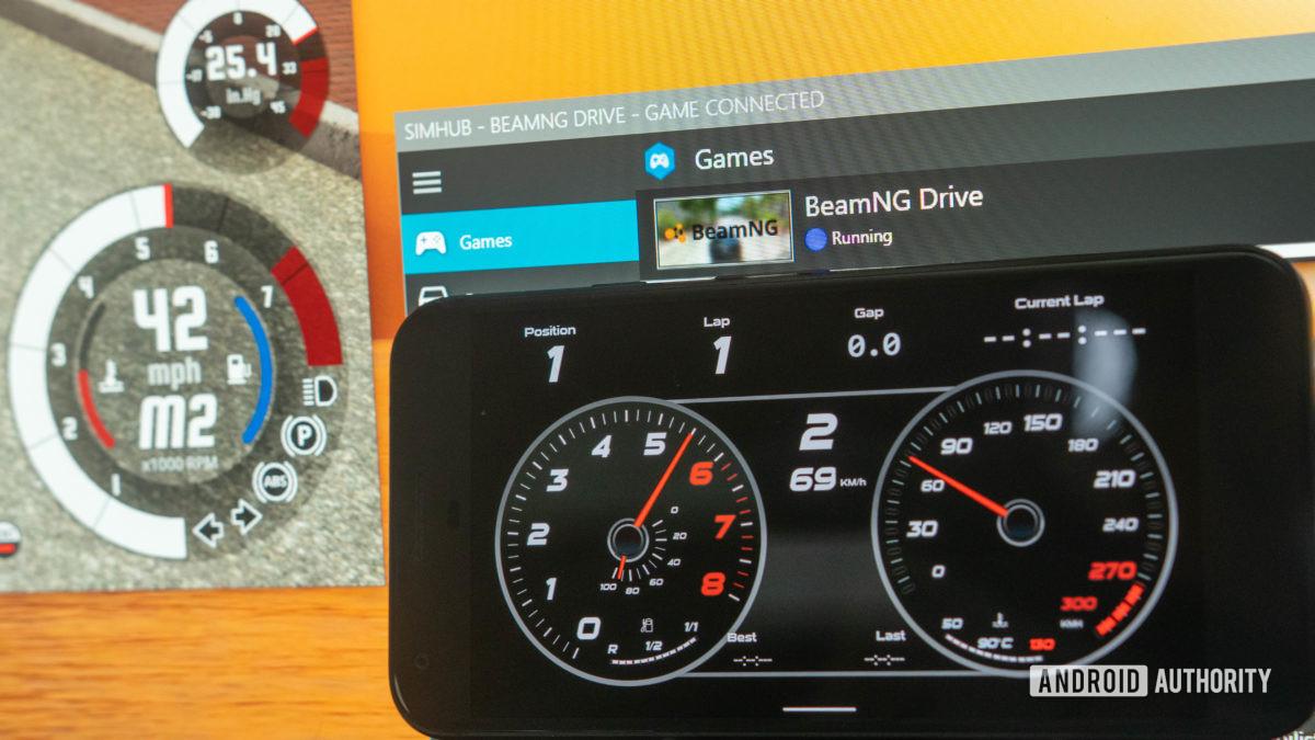 Приложение SimHub рядом с ПК с Windows