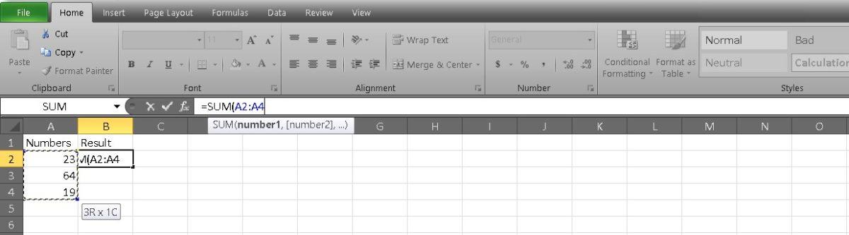добавить ячейки в Excel 6