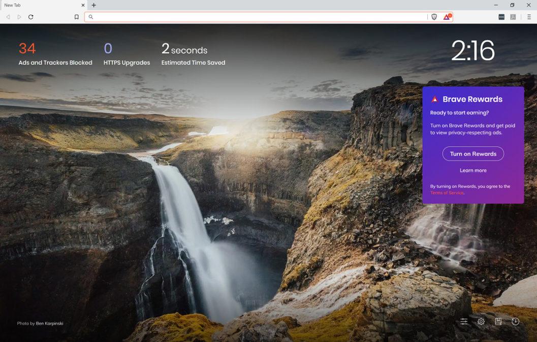 смелое меню браузера