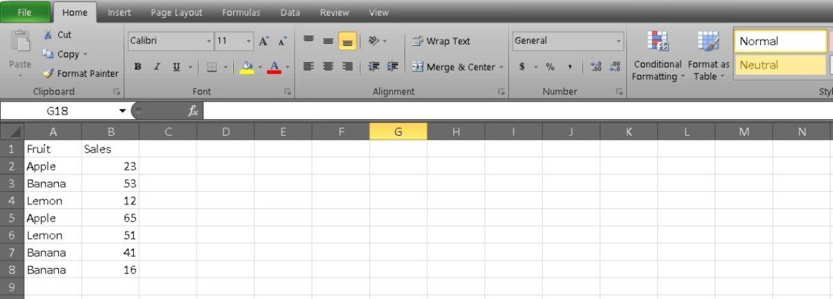 среднее в Excel 1