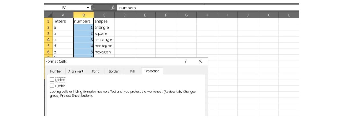 защитить Excel 6