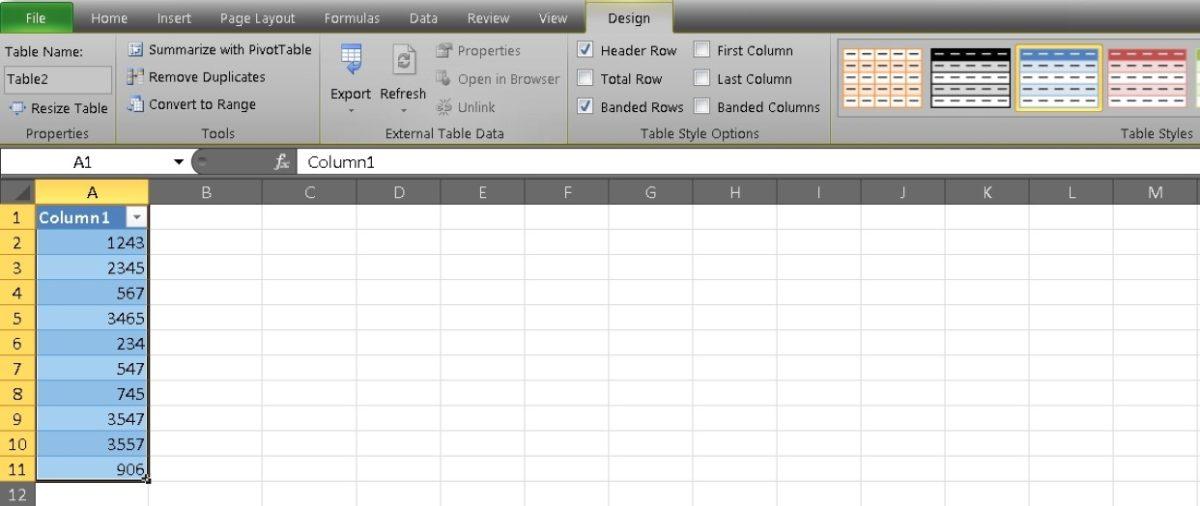 Столбец сумм в Excel 7